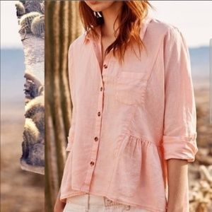 Anthropologie Holding Horses McKenzie Linen Top
